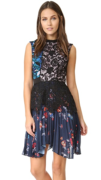 Self Portrait Nina Pleated Dress
