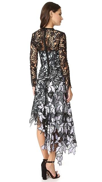 Self Portrait Vine Lace Midi Dress