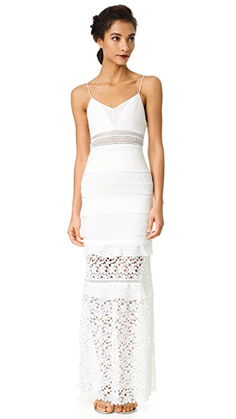 Self Portrait Peony Gown - White