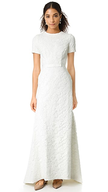 Self Portrait White Roses Gown