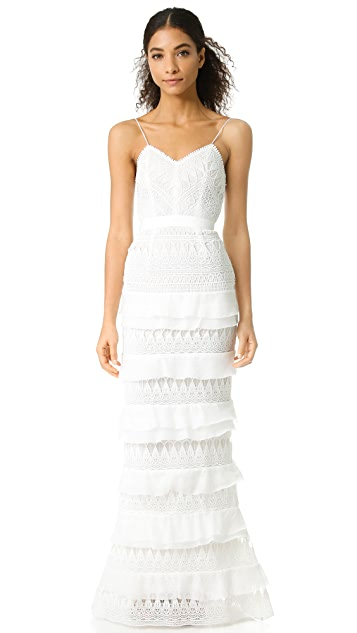 Self Portrait Penelope Tiered Gown