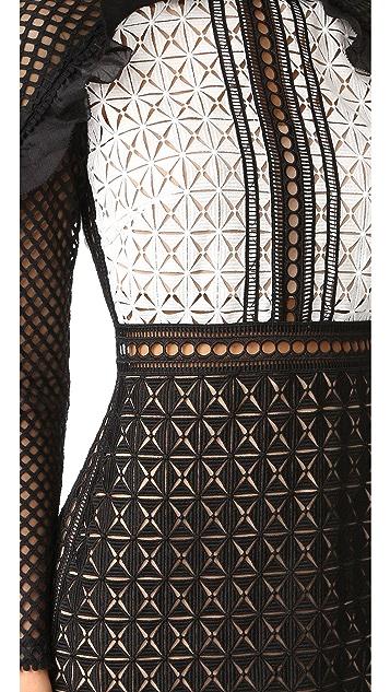 Self Portrait Geometric Mini Dress