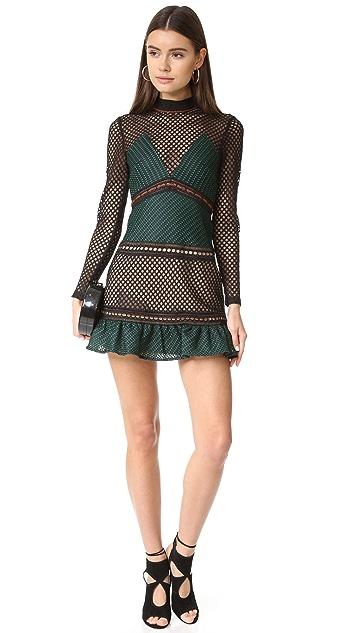 Self Portrait Forest Mini Dress