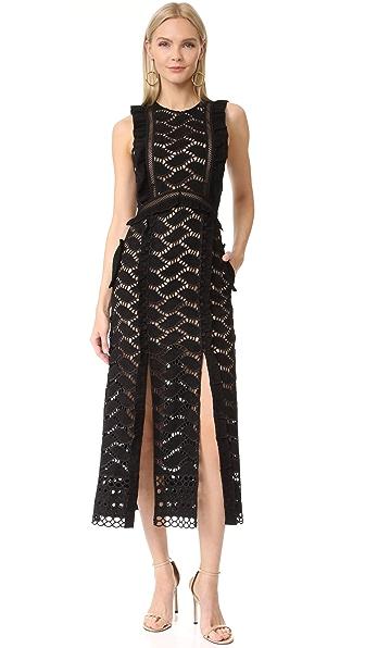 Self Portrait Cutwork Midi Dress