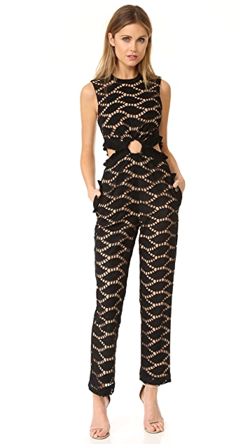 Self Portrait Cutwork Embroidered Jumpsuit