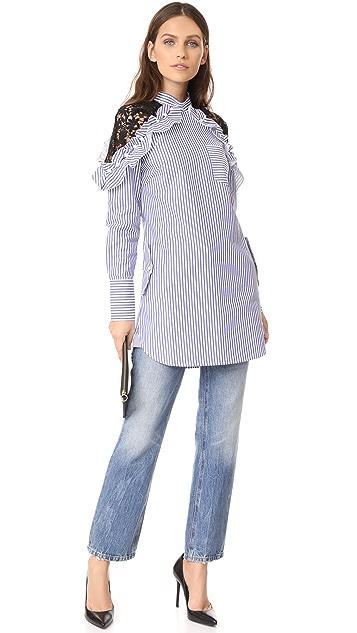 Self Portrait Lace Shoulder Dress