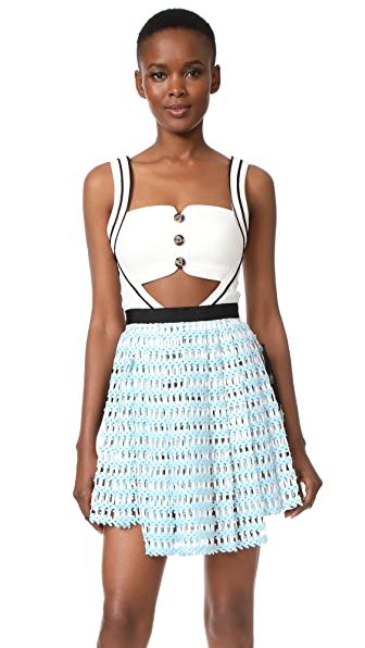 Self Portrait Cutout Mini Dress