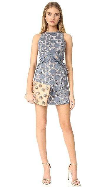 Self Portrait Cutout Star Mini Dress