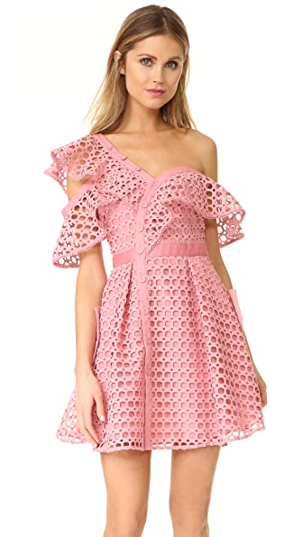 Self Portrait Lace Frill Mini Dress
