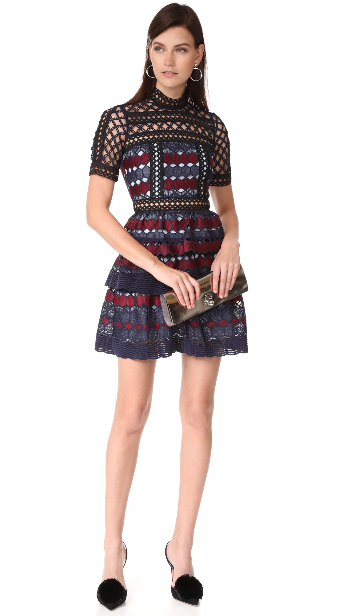 1e2ea9012b154 Self Portrait Hexagon Lace Mini Dress | SHOPBOP