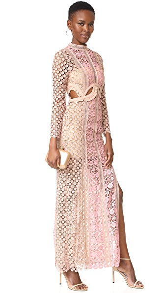 Self Portrait Payne Cutout Maxi Dress - Blush