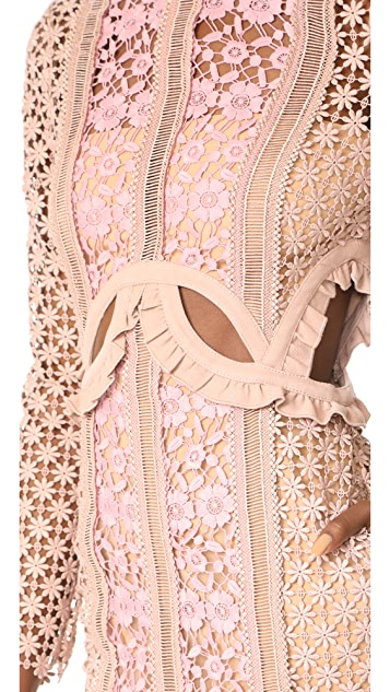 Self Portrait Payne Cutout Maxi Dress