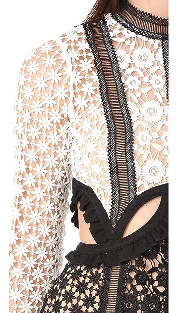 Self Portrait Payne Cutout Mini Dress