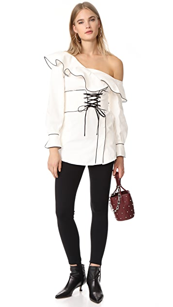 Self Portrait Canvas Corset Belted Tunic