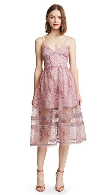 Self Portrait Regal Rose Midi Dress