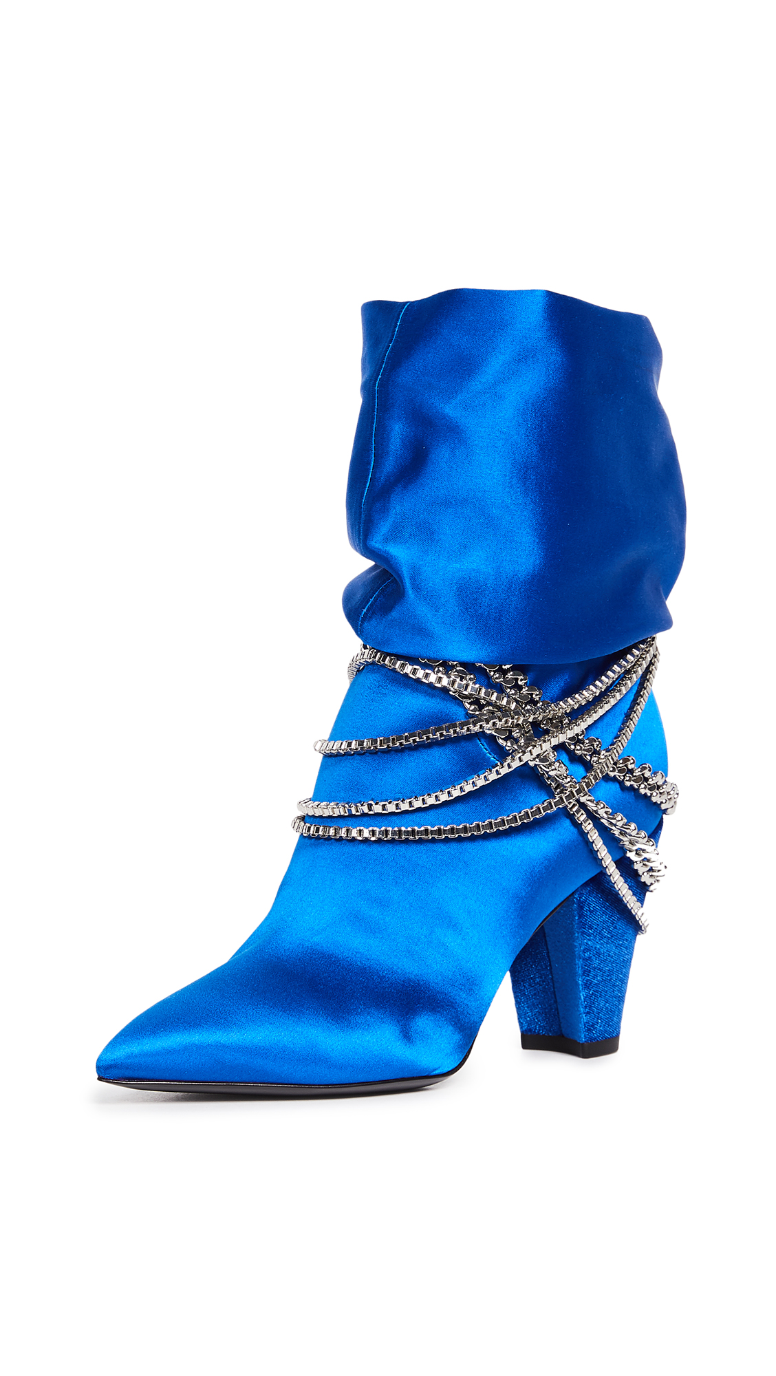 Self Portrait Sadie Boots - Bright Blue