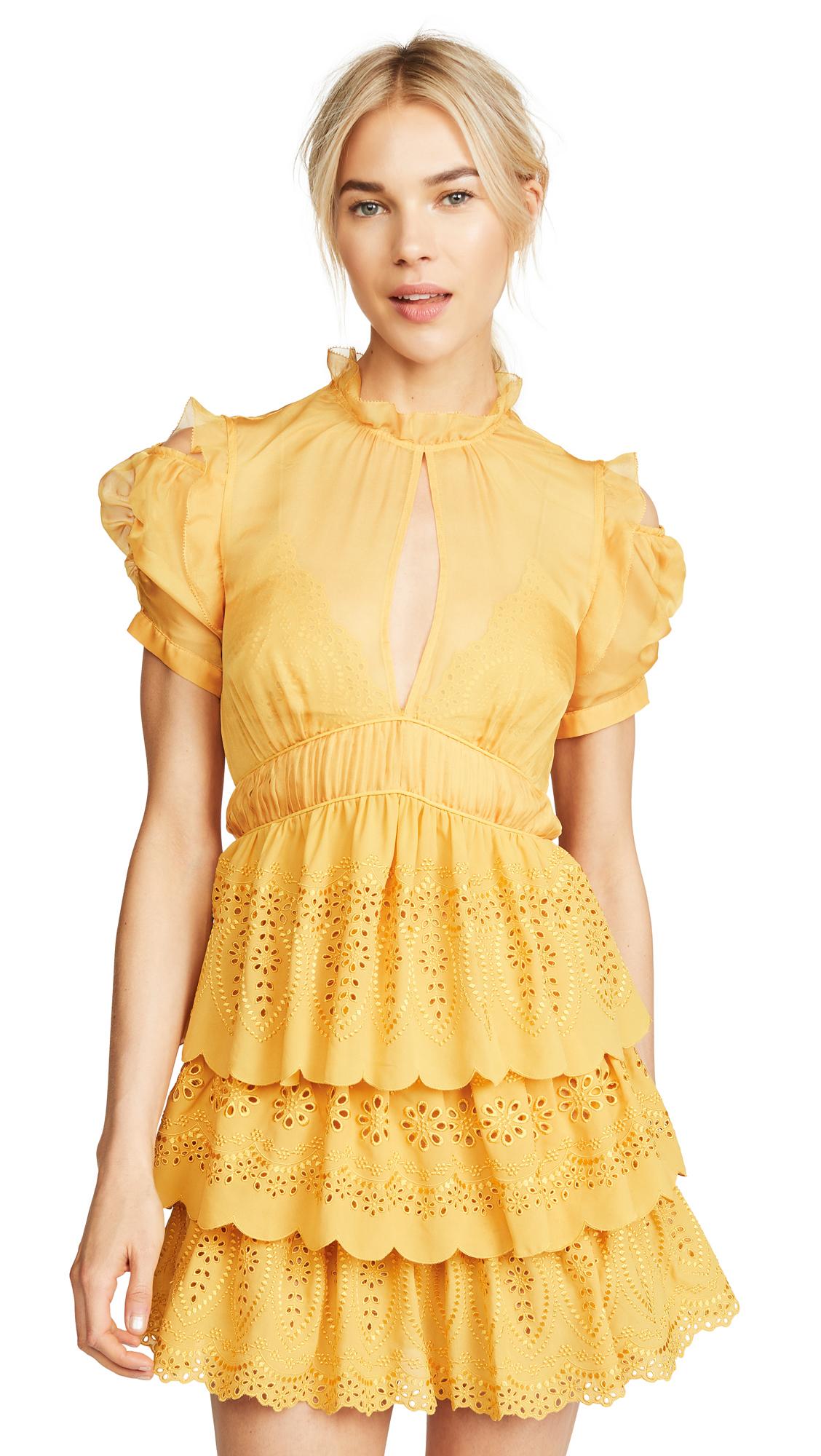 Self Portrait Tiered Mini Dress