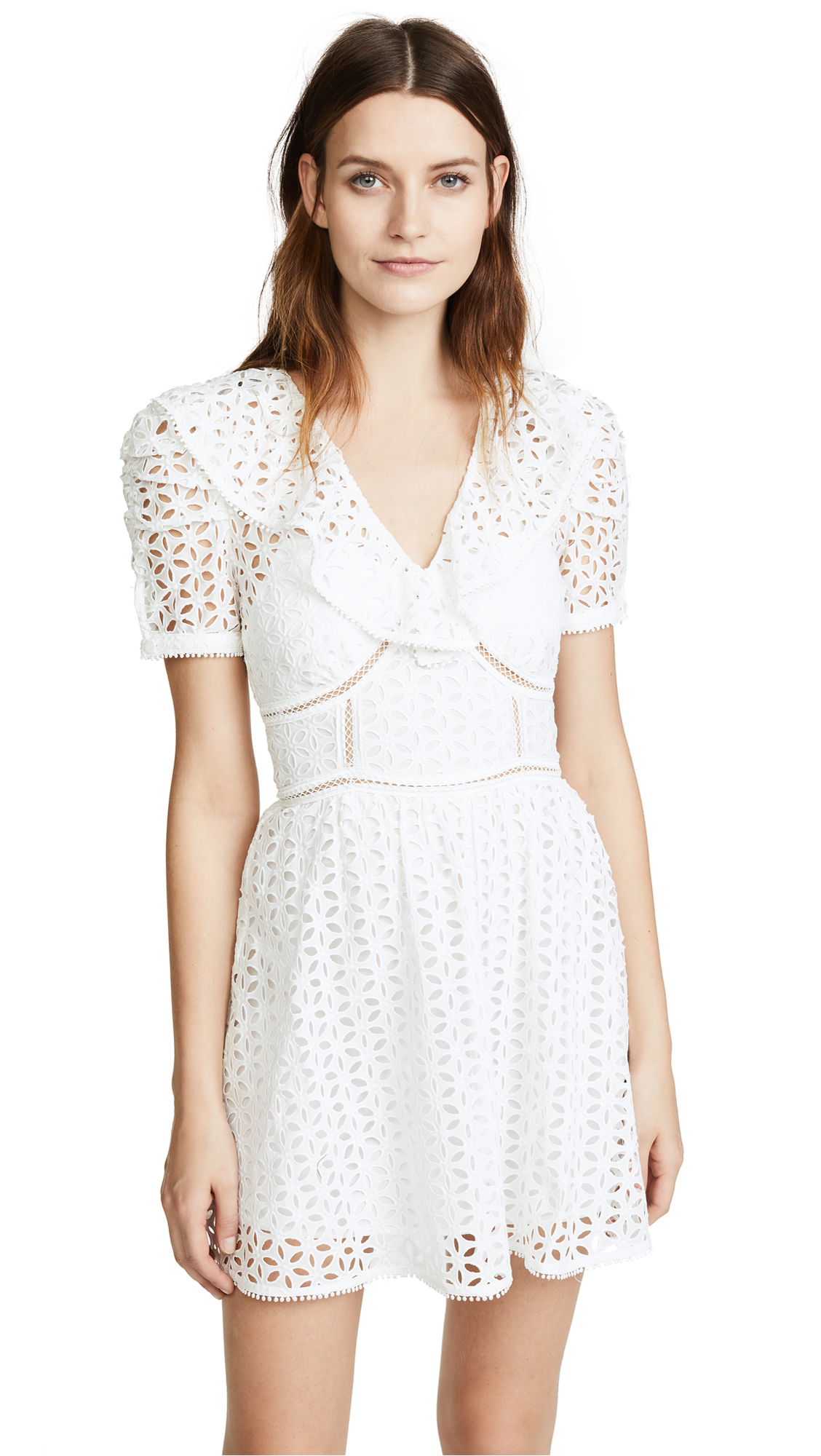 Self Portrait Mini Dress - White