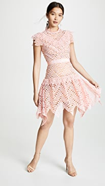 628ebbffda4f Self Portrait. Abstract Triangle Lace Dress