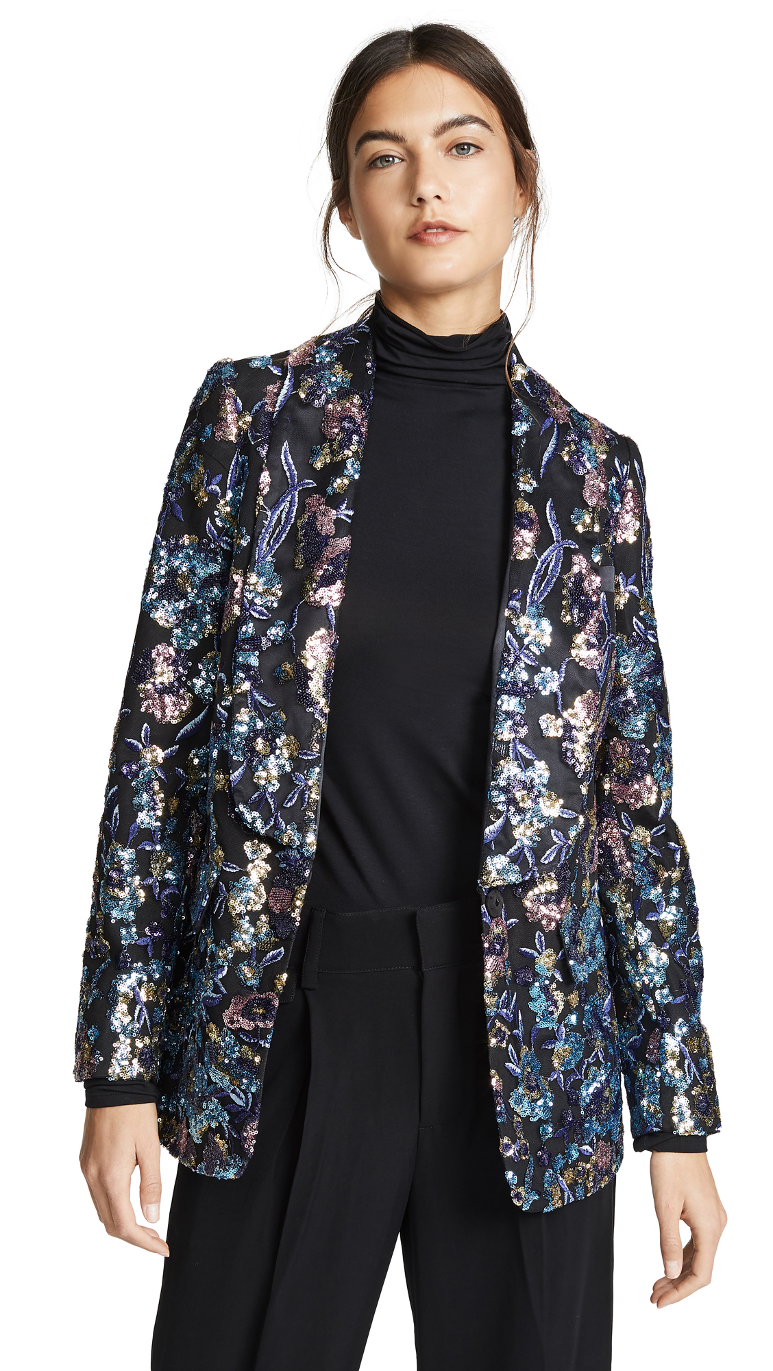 Self Portrait Sequin Embellished Jacket - Multi