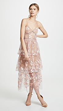 a27f1bb351b526 Self Portrait. Floral Embellished Midi Dress
