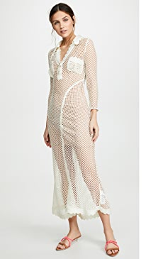 7927482294 Self Portrait. Fishnet Crochet Lace Dress