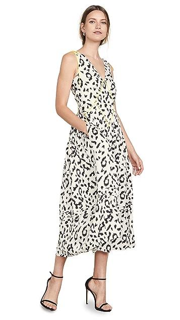Photo of  Self Portrait Sleevless Leopard Printed Dress - shop Self Portrait dresses online sales