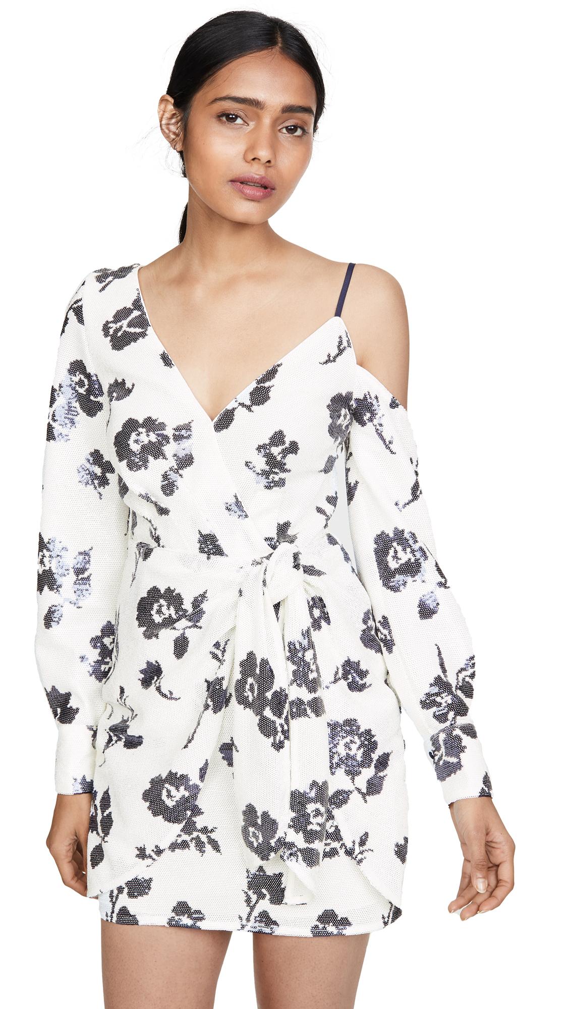 Buy Self Portrait Floral Sequin Wrap Dress online beautiful Self Portrait Clothing, Dresses