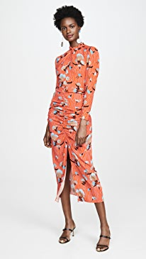 2fbc7f0bbcf7 Self Portrait. Botanical Printed Crepe Midi Dress