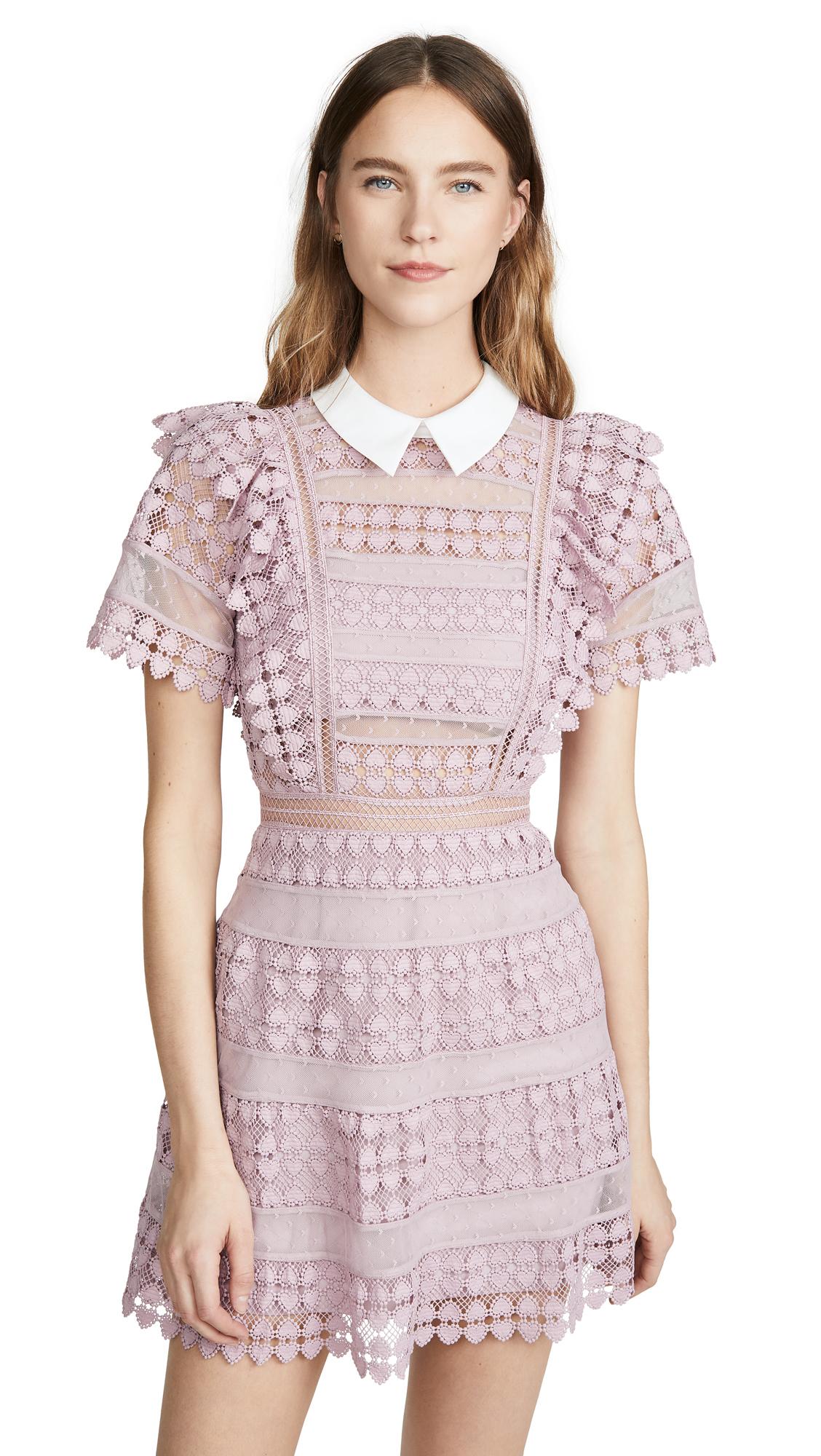 Buy Self Portrait Heart Lace Mini Dress online beautiful Self Portrait Clothing, Dresses