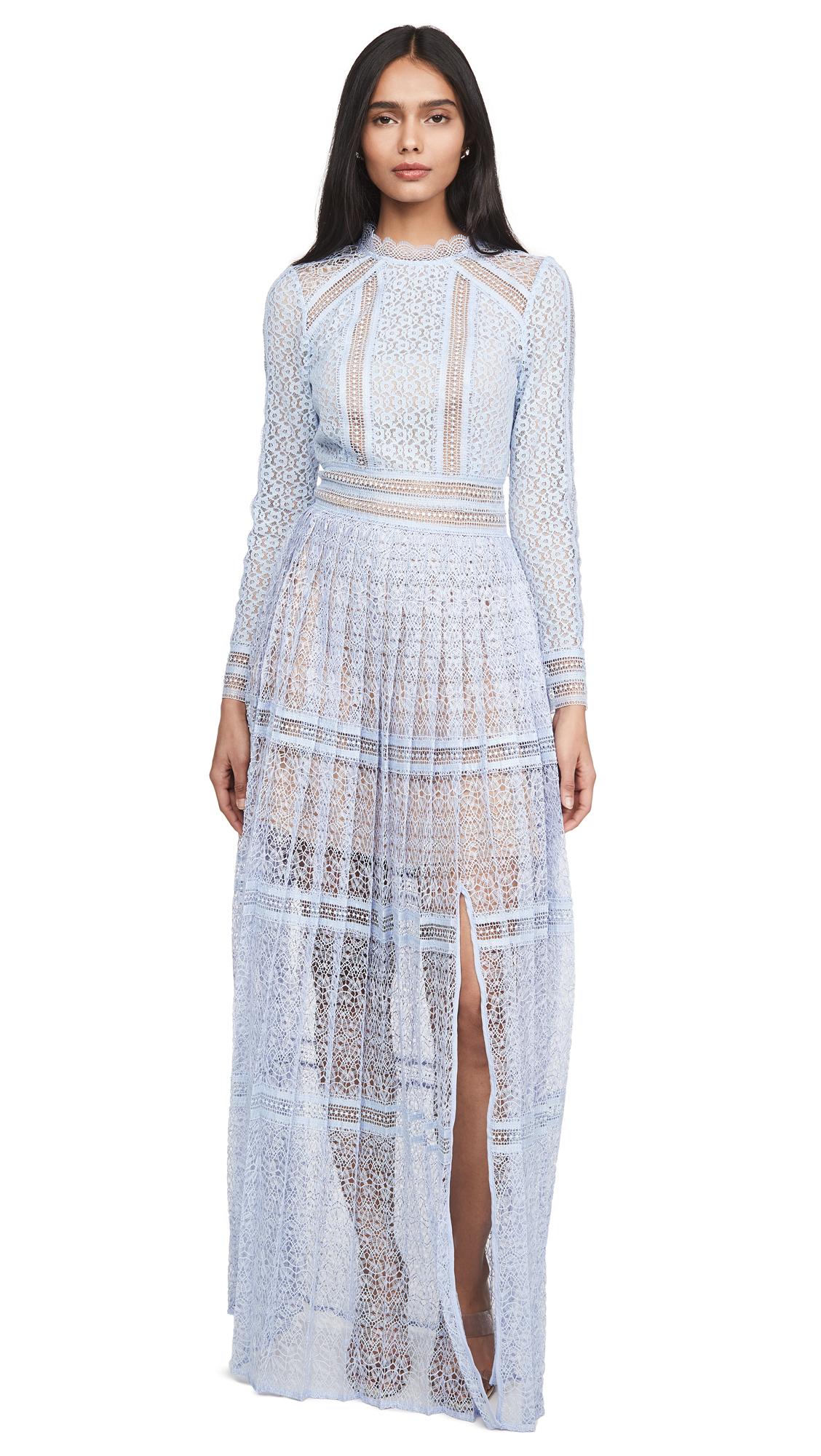Self Portrait Lace Panel Maxi Dress – 30% Off Sale