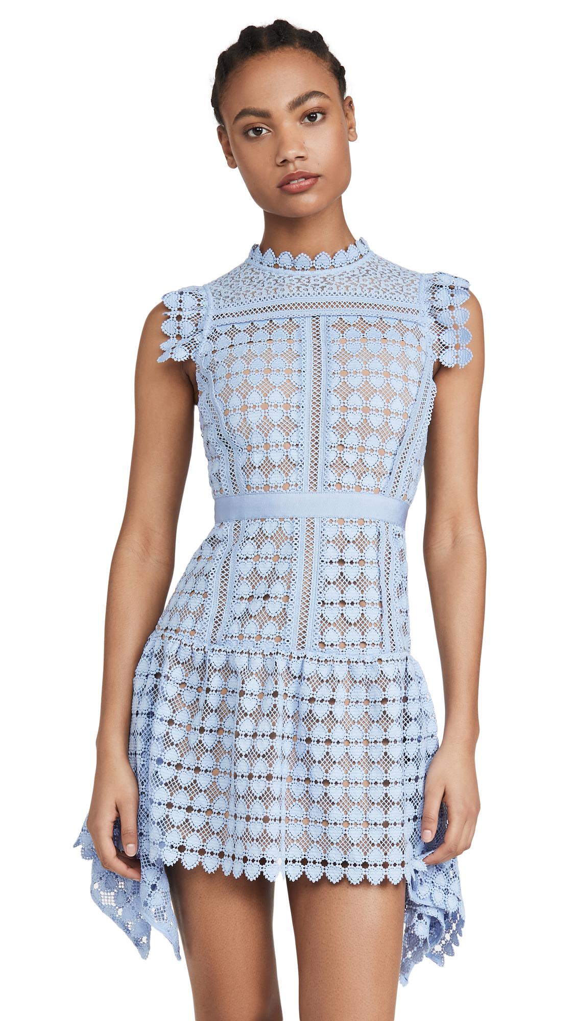 Self Portrait Heart Lace Mini Dress - 50% Off Sale