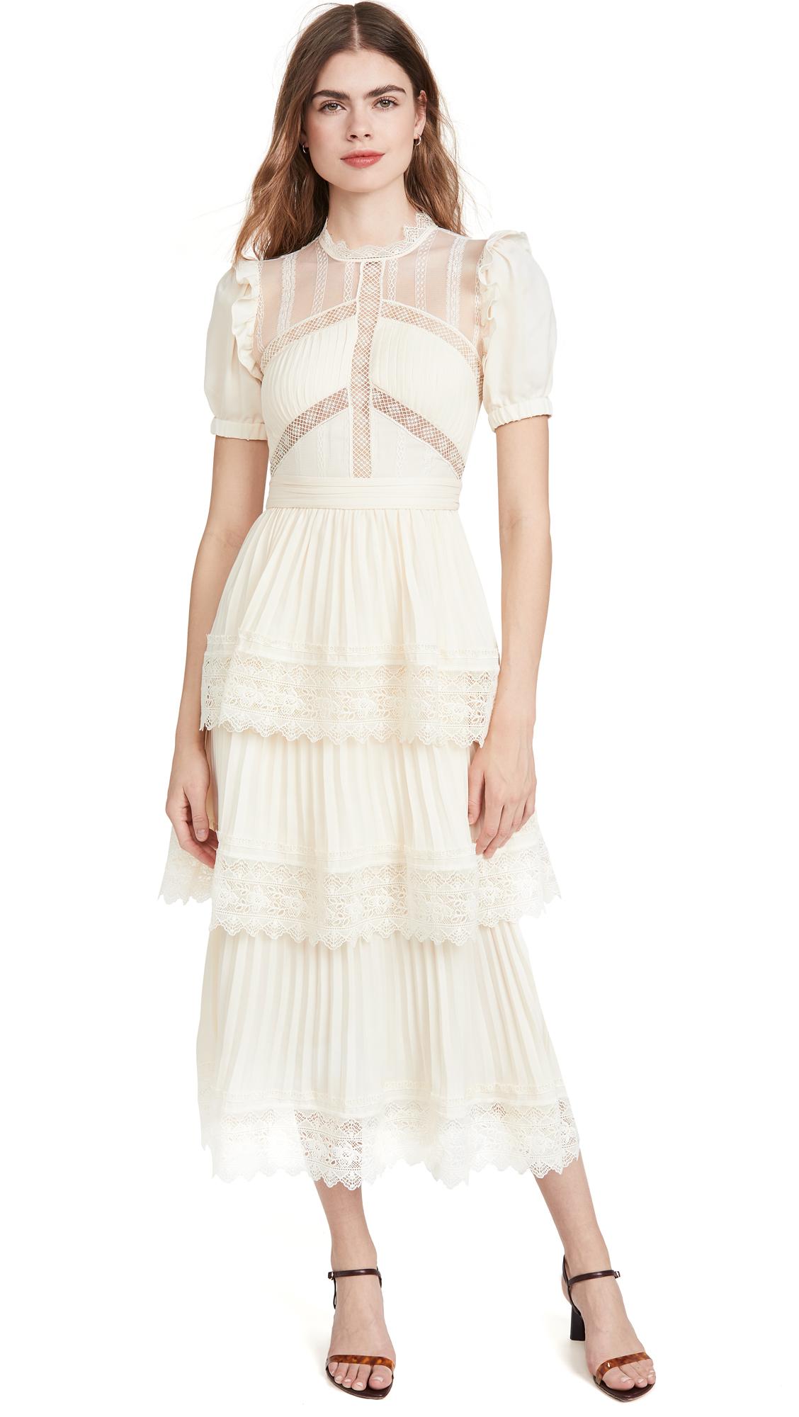 Buy Self Portrait Lace Trim Midi Dress online beautiful Self Portrait Clothing, Dresses