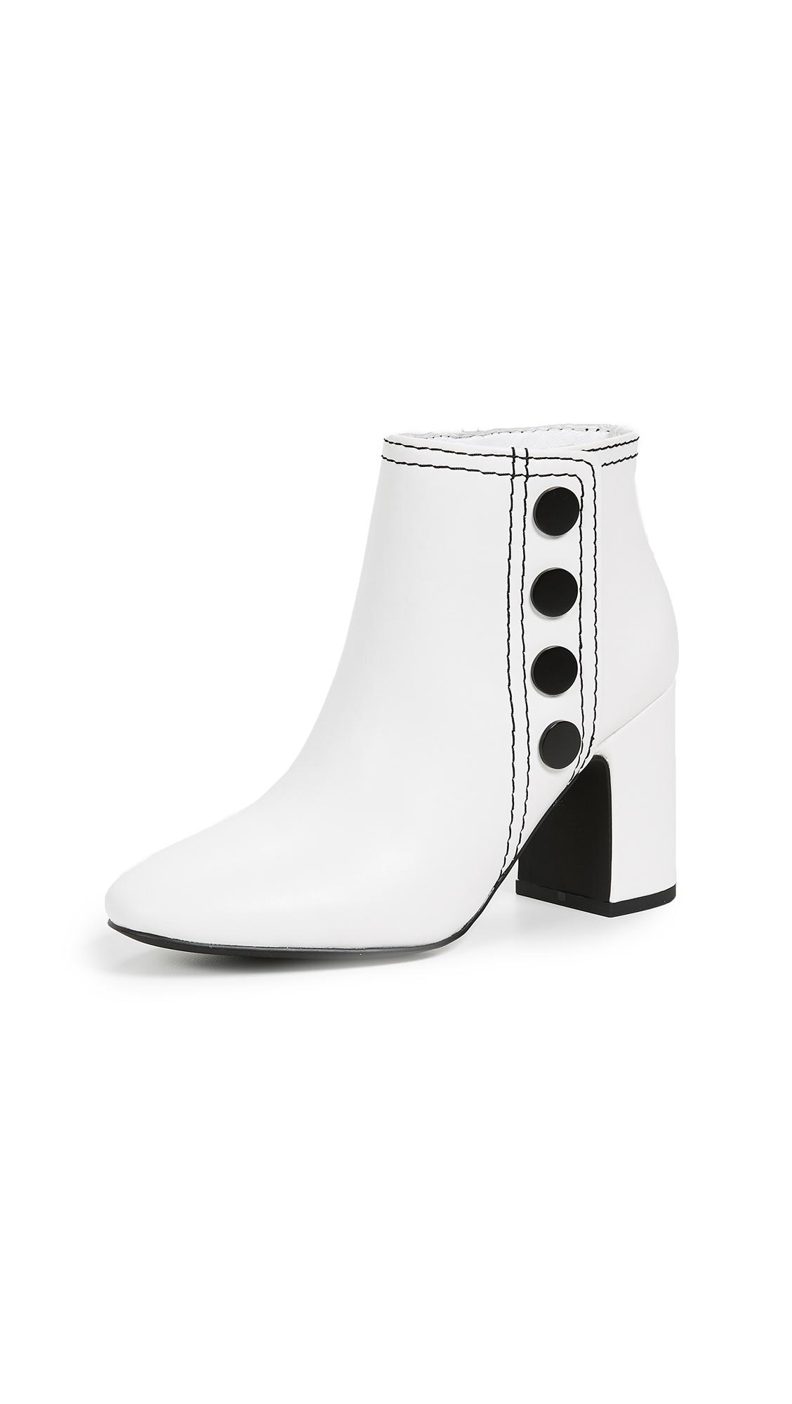 SENSO Jace Block Heel Booties - Ice