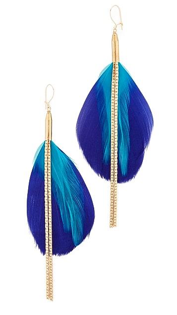serefina Double Drop Feather Earrings