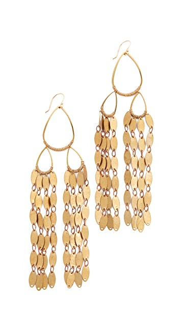 serefina Fringe Drape Earrings