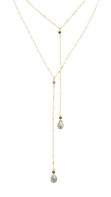 serefina Delicate Double Y Necklace