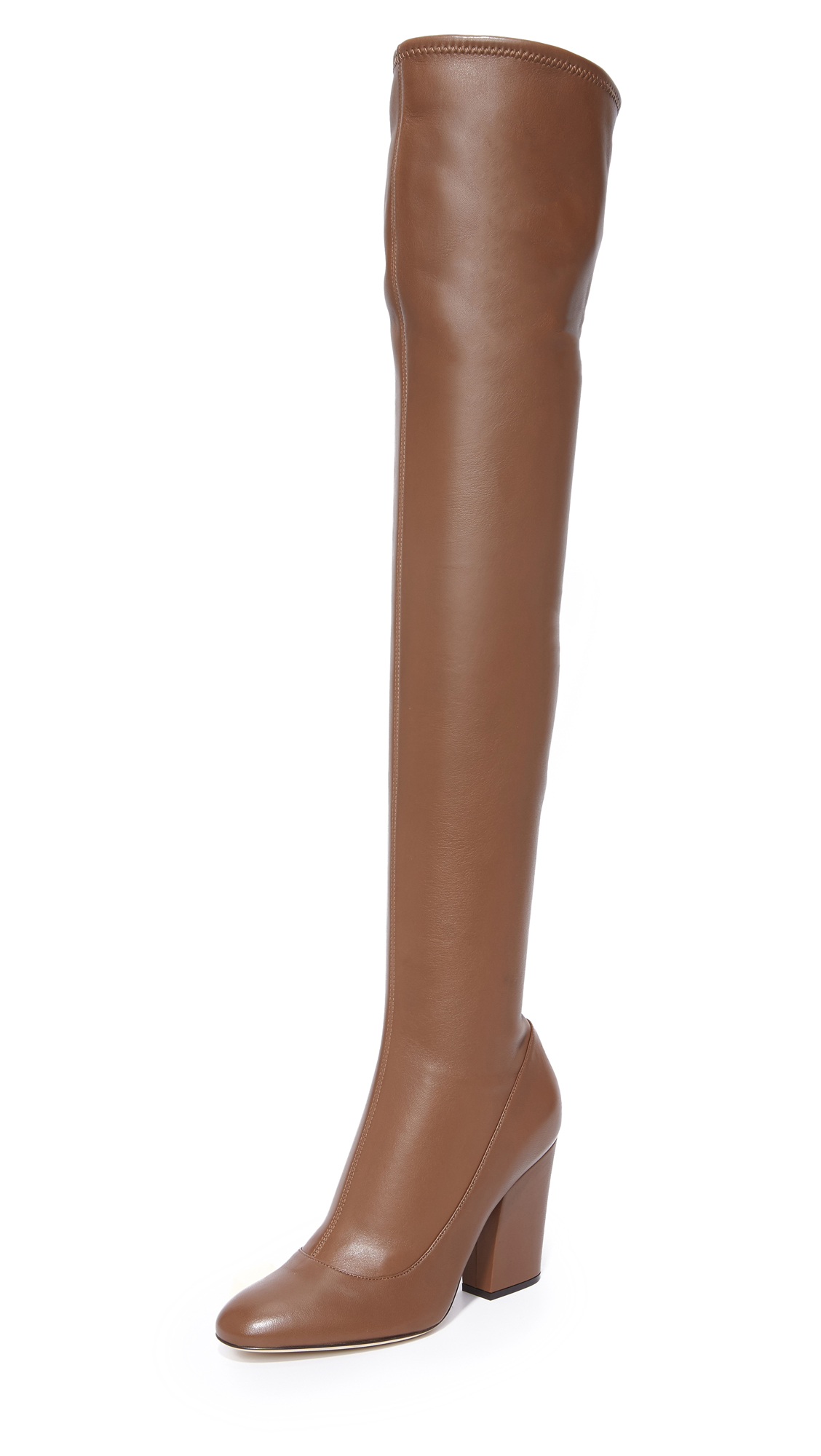 Sergio Rossi Knee High Boots - Tobacco