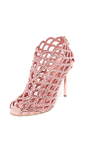 Sergio Rossi Mermaid Cage Booties - Baby Rose