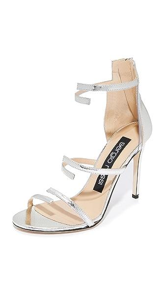 Sergio Rossi Karen Sandal Heels - Silver