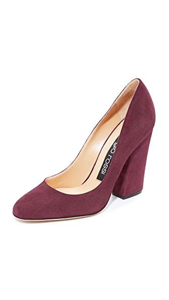 Sergio Rossi Virginia Heels - Dark Cherry