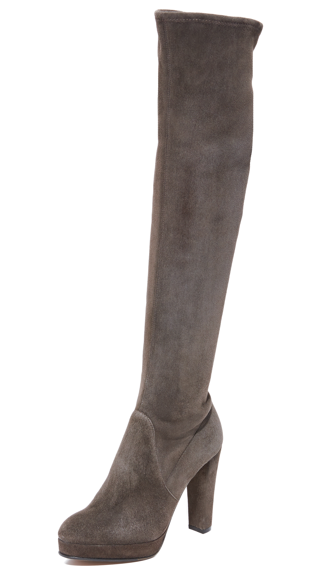 Sergio Rossi Sharon Boots In Gris Fonce
