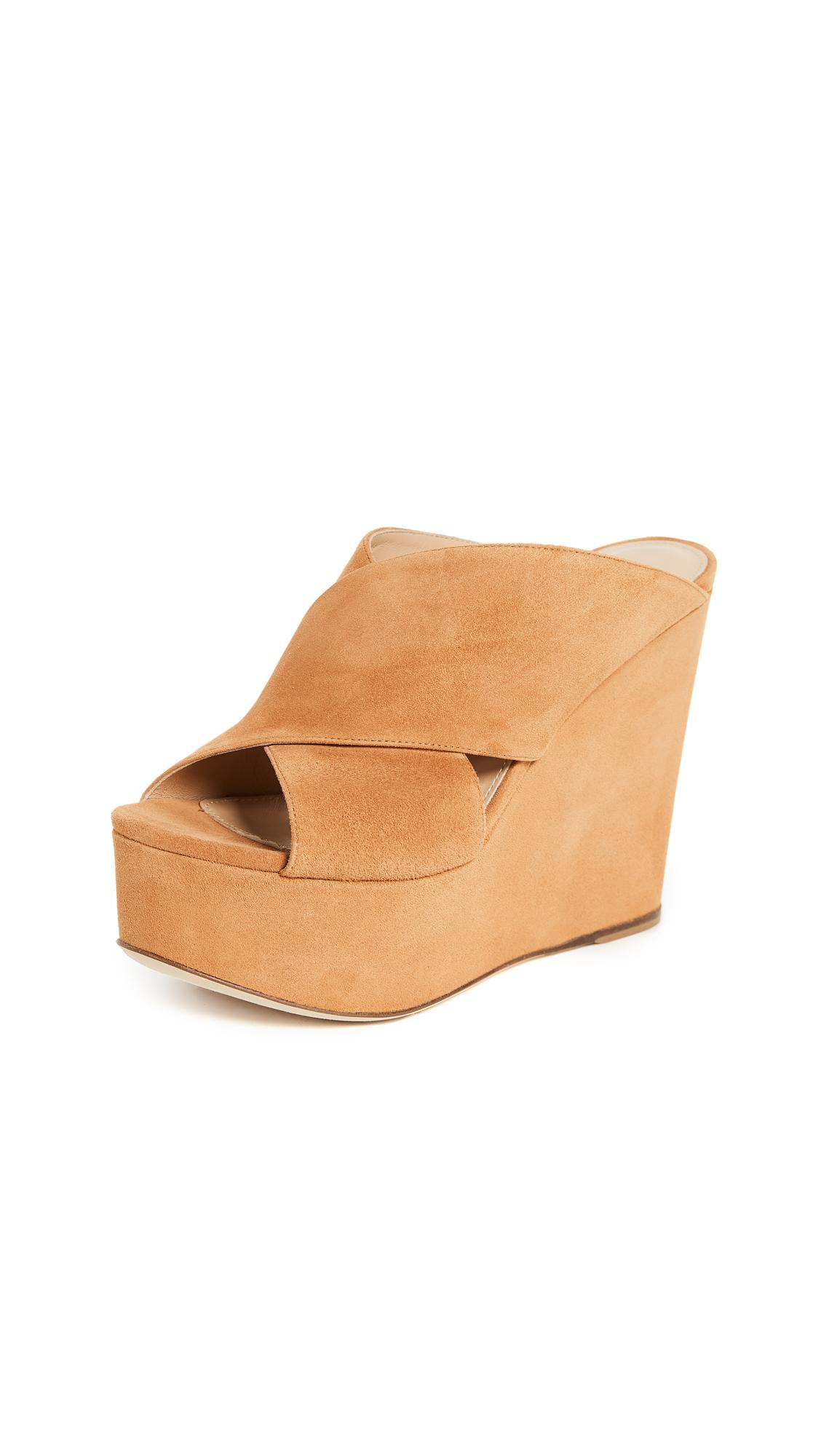 Sergio Rossi Alma Platform Sandals - Luggage