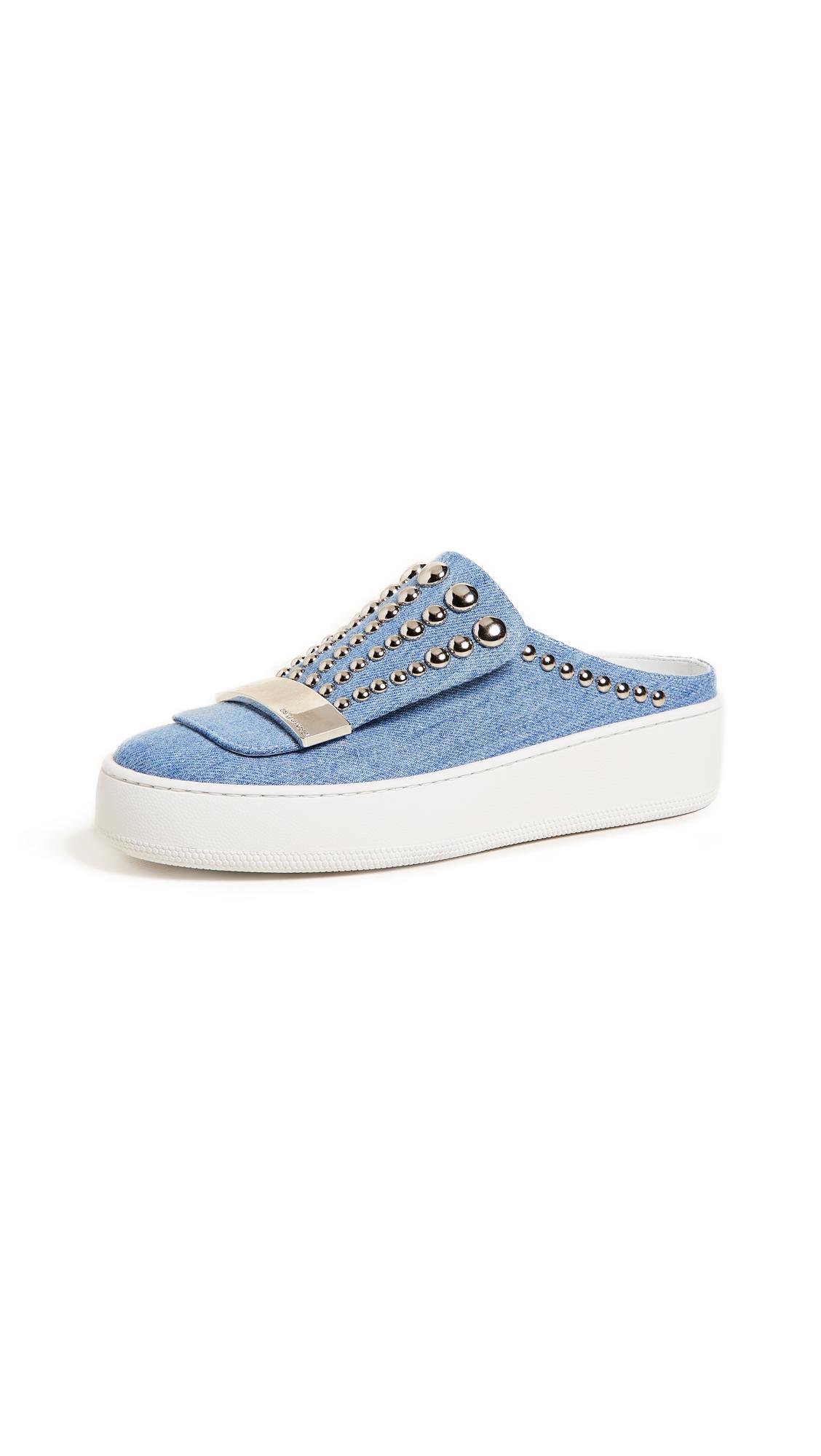 Sergio Rossi Addict Sneaker Mules - Blue