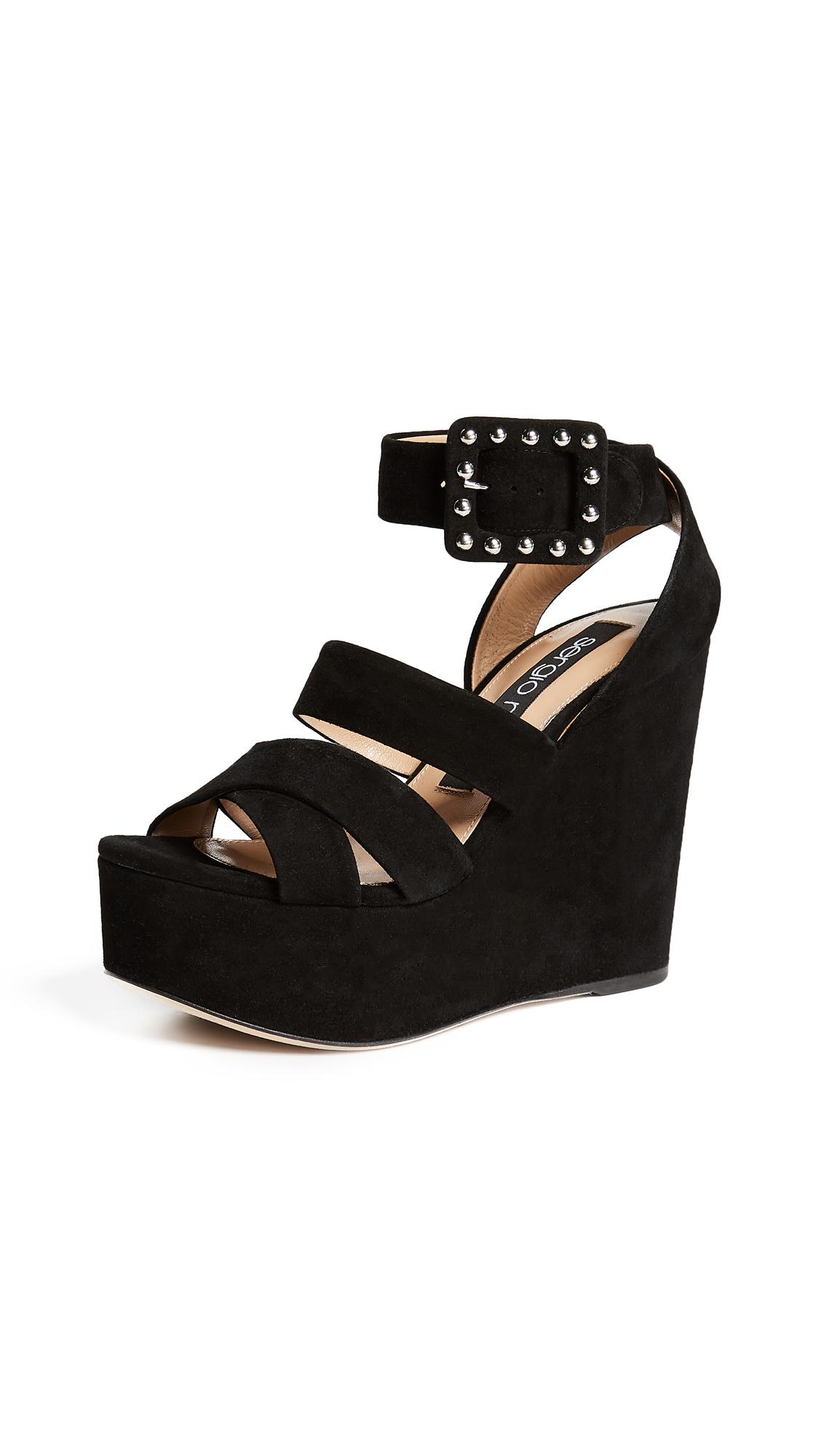 Sergio Rossi Elettra Strappy Platform Sandals - Black