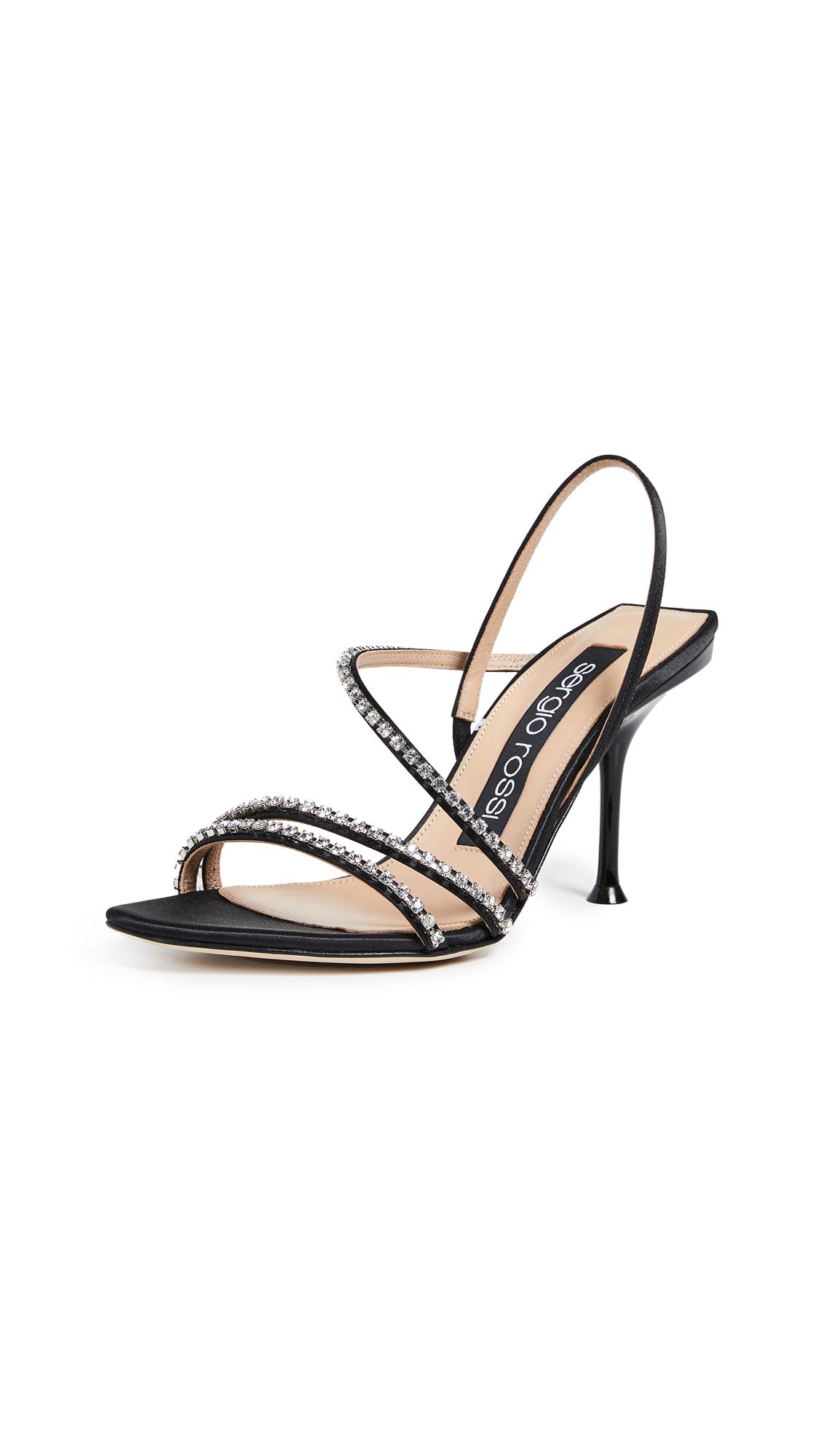 Sergio Rossi Milano Diamond Sandals - Nero