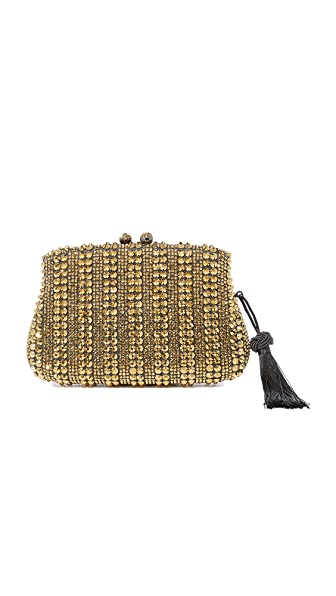 Serpui Marie Aurora Clutch - Black/Gold