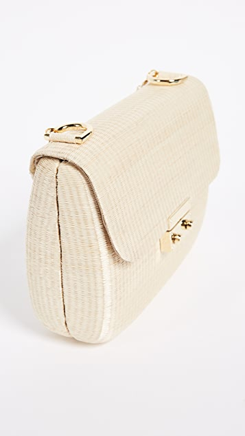 Serpui Marie Lola Wicker Cross Body Bag