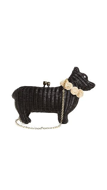 Serpui Marie Плетеный клатч в виде собаки