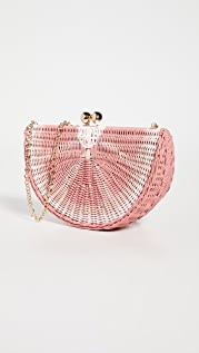 Serpui Marie Grapefruit Clutch